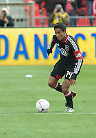 06 October 2012: D.C. United midfielder Andy Najar #14 in action during an MLS game between D.C. United and Toronto FC at BMO Field in Toronto, Ontario..D.C. United won 1-0..