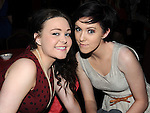 Vanessa Caffrey and Edel Gartland pictured at James Guinn's 18th birthday in the Star and Crescent. Photo: Colin Bell/pressphotos.ie
