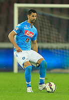 Miguel Britos  during the Italian Serie A soccer match between   SSC Napoli and UC Sampdoria at San Paolo  Stadium in Naples ,April 26 , 2015