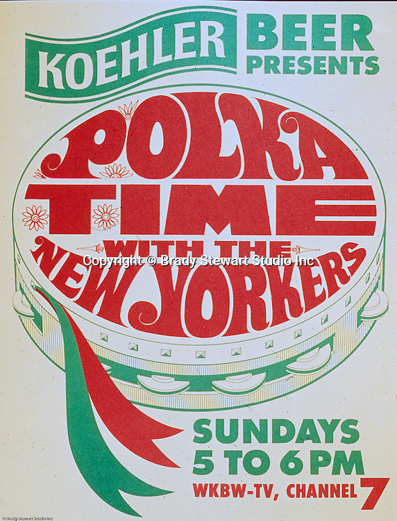 "Erie Brewing Company 1965:  Koehler Beer sponsoring ""Polka Time"" on a local Television Station.  Advertisement was developed for Koehler's Pittsburgh Advertising Agency; Lando Inc.  Lando Inc owned and was located in the same building as Brady Stewart Studio - 725 Liberty Avenue in downtown Pittsburgh."