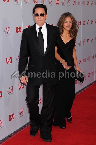12 June 2008 - Hollywood, California - Robert Downey Jr. and wife Susan. 36th Annual AFI Life Achievement Award at the Kodak Theatre. Photo Credit: Byron Purvis/AdMedia