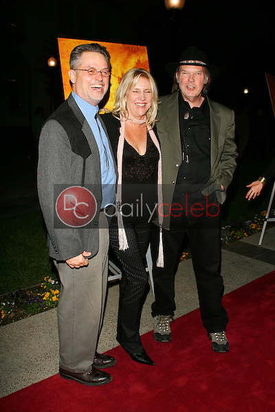 Jonathan Demme with Pegi Young and Neil Young<br />