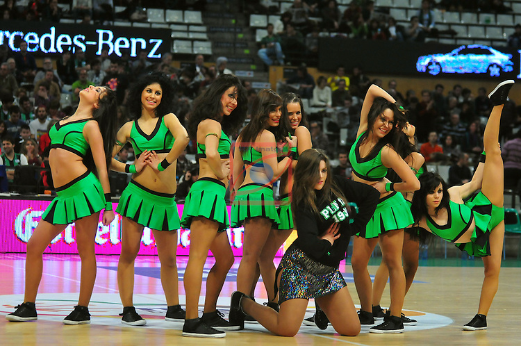 Cheerleaders Badalona. FIATC Mutua Joventut vs Caja Laboral: 57-74 - League Endesa 2011/12 - Game: 15.