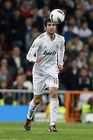 08.04.2012 SPAIN -  La Liga matchday 32th  match played between Real Madrid CF vs Valencia (0-0) and falls to 4 points behind Barcelona, at Santiago Bernabeu stadium. The picture show Raul Albiol Tortajada (Spanish defender of Real Madrid)