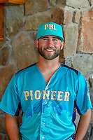 Colton Cross (23) of the Helena Brewers and the Pioneer League All-Stars poses for a photo during activities before the 2nd Annual Northwest League-Pioneer League All-Star Game at Snowbasin Resort on August 1, 2016 in Ogden, Utah. (Stephen Smith/Four Seam Images)