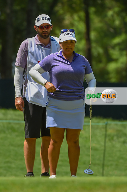Lizette Salas (USA) looks over her putt on 2 during round 4 of the U.S. Women's Open Championship, Shoal Creek Country Club, at Birmingham, Alabama, USA. 6/3/2018.<br /> Picture: Golffile | Ken Murray<br /> <br /> All photo usage must carry mandatory copyright credit (© Golffile | Ken Murray)