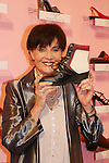"Linda Dano (Another World, OLTL, AMC, GH) is holding a Timberland boot at the 15th Annual QVC presents ""FFANY Shoes on Sale"" which benefits Breast Cancer Research on October 15, 2008 at the Waldorf Astoria, New York City, New York. (Photo by Sue Coflin/Max Photos)"