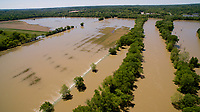 Flooding is pictured in farm fields along the White River south of Spencer, Indiana on Sunday, May 7, 2017. (Photo by James Brosher)