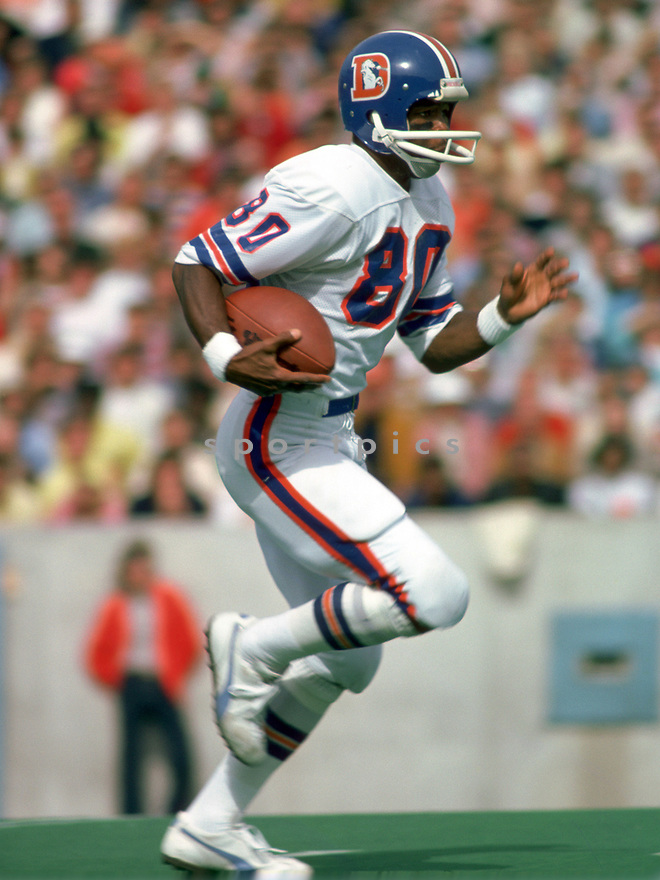 Denver Broncos Rick Upchurch (80) during a game from his 1978 season with the Denver Broncos. Rick Upchurch played for 9 seasons, all with the Denver Broncos and was a 4-time Pro Bowler.(SportPics)