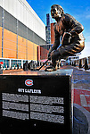 25 January 2009: A bronze statue of Montreal Canadiens legend Guy Lafleur stands outside the Bell Centre prior to the 2009 NHL All-Star Game in Montreal, Quebec, Canada. The Eastern Conference defeated the Western Conference 12-11 in a shootout. ***** Editorial Sales Only ***** Mandatory Photo Credit: Ed Wolfstein Photographer