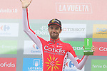 Jesus Herrada (ESP) Cofidis wins the days combativity award at the end of Stage 20 of the La Vuelta 2018, running 97.3km from Andorra Escaldes-Engordany to Coll de la Gallina, Spain. 15th September 2018.                   <br /> Picture: Colin Flockton | Cyclefile<br /> <br /> <br /> All photos usage must carry mandatory copyright credit (© Cyclefile | Colin Flockton)