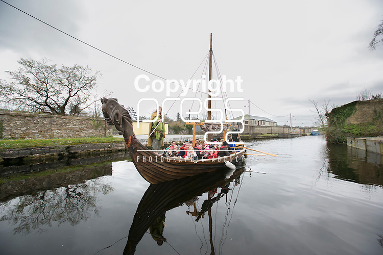A Viking Boat in  Re-Enactment Camp at The Brian Boru Festival in Killaloe/Ballina during the Commemoration Weekend.<br /> Pictured Credit Brian Gavin Press 22