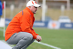12 November 2008: Clemson head coach Trevor Adair. Boston College defeated Clemson University 1-0 in the second sudden-victory overtime period at Koka Booth Stadium at WakeMed Soccer Park in Cary, NC in a men's ACC tournament quarterfinal game.