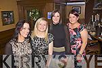 Abbeyfeale girls enjoying a Chritmas dinner last Saturday night in Leen's Hotel, Abbeyfeale, l-r: Maria Flynn, Maura O'Connor, Aine O'Connor and Mary Mulcahy.