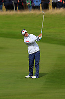 Danielle Kang of Team USA on the 2nd during Day 2 Fourball at the Solheim Cup 2019, Gleneagles Golf CLub, Auchterarder, Perthshire, Scotland. 14/09/2019.<br /> Picture Thos Caffrey / Golffile.ie<br /> <br /> All photo usage must carry mandatory copyright credit (© Golffile | Thos Caffrey)