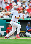8 March 2012: St. Louis Cardinals' infielder Lance Berkman in action during a Spring Training game against the Boston Red Sox at Roger Dean Stadium in Jupiter, Florida. The Cardinals defeated the Red Sox 9-3 in Grapefruit League action. Mandatory Credit: Ed Wolfstein Photo
