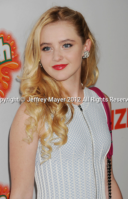 HOLLYWOOD, CA - OCTOBER 25: Kathryn Newton arrives at the Los Angeles premiere of 'Fun Size' at Paramount Studios on October 25, 2012 in Hollywood, California.
