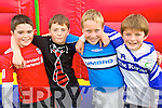 Pictured at the Tralee Rugby Club fun day  on Sunday were l-r: Labhrás Long, Jerry Finnegan, Cillian Monaghan and Luke Chester.