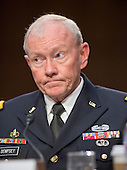 Chairman, Joint Chiefs of Staff General Martin E. Dempsey, U.S. Army, delivers testimony before the U.S. Senate Committee on Armed Services on the U.S. policy towards Iraq and Syria and the threat posed by the Islamic State of Iraq and the Levant (ISIL) in Washington, D.C. on Tuesday, September 16, 2014.<br /> Credit: Ron Sachs / CNP