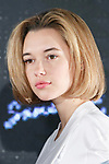 Sarah Snyder poses for cameras during the Samantha Millennial Stars promotional event on April 27, 2017, Tokyo, Japan. The Japanese fashion and accessories brand is launching a new television commercial directed by Terry Richardson that features the five millennial models. (Photo by Rodrigo Reyes Marin/AFLO)