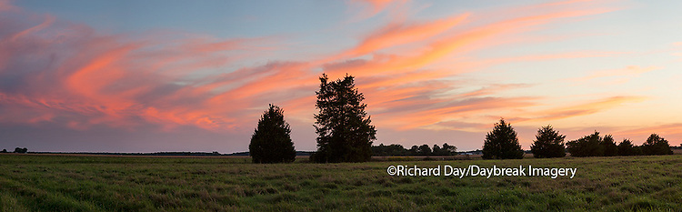 Sunset, Prairie Ridge State Natural Area, Prairie Ridge, Marion County, Illinois, USA, nobody, dusk
