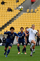 Japan&rsquo;s Hikari Takagi in action during the  International Football - Football Ferns v Japan  at Westpac Stadium, Wellington, New Zealand on Sunday 10 June 2018.<br /> Photo by Masanori Udagawa. <br /> www.photowellington.photoshelter.com