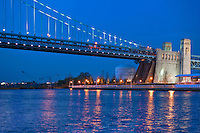 Philadelphia, PA,  Sunset, Ben Franklin Bridge, River Reflections, Phila, Philly, PA