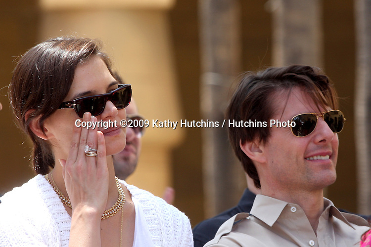 Katie Holmes & Tom Cruise  at the Cameron Diaz Star on the Hollywood Walk of Fame Ceremony  in front of the Egyptian Theater on June 22, 2009.  .©2009 Kathy Hutchins / Hutchins Photo