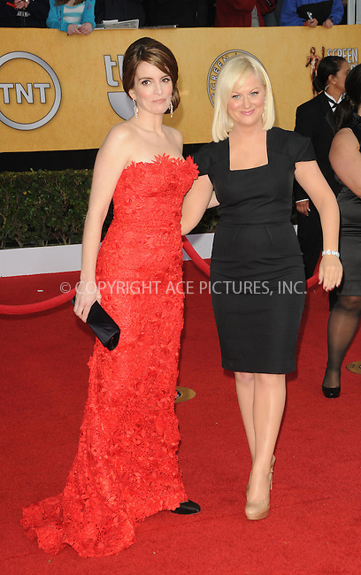 WWW.ACEPIXS.COM . . . . . ....January 30 2011, Los Angeles....Tina Fey and Amy Poehler arriving at the 17th Annual Screen Actors Guild Awards held at The Shrine Auditorium on January 30, 2011 in Los Angeles, CA....Please byline: PETER WEST - ACEPIXS.COM....Ace Pictures, Inc:  ..(212) 243-8787 or (646) 679 0430..e-mail: picturedesk@acepixs.com..web: http://www.acepixs.com