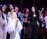 Stephanie J. Block and Cher during the Broadway Opening Night Curtain Call of 'The Cher Show'  at Neil Simon Theatre on December 3, 2018 in New York City.