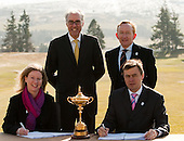 Ryder Cup 2014 Host Nation Agreement Signing