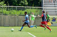 Boyds, MD - Sunday July 31, 2016: Maya Hayes, Whitney Church during a regular season National Women's Soccer League (NWSL) match between the Washington Spirit and Sky Blue FC at Maureen Hendricks Field, Maryland SoccerPlex. The Washington Spirit defeated Sky Blue FC 3-1.