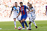 FC Barcelona's Luis Suarez and Deportivo de La Coru?a's Pedro Mosquera during the La Liga match between Futbol Club Barcelona and Deportivo de la Coruna at Camp Nou Stadium Spain. October 15, 2016. (ALTERPHOTOS/Rodrigo Jimenez)