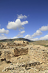 Israel, the cultic installation and Israelite citadel in Tel Hazor, site of the biblical city Hazor, a World Heritage site