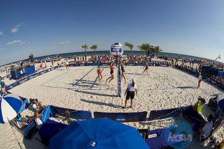 06 MAY 2016:  The Division I Women's Beach Volleyball Championship takes place at the Beach at Gulf Shores in Gulf Shores, AL.  Jamie Schwaberow/NCAA Photos