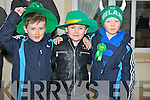 WAITING: Paul Costello, Brendan Gallagher and Sam Griffin who waited in the cold weather for the St Patrick to arrive in Kilflynn for the Kilflynn St Patrick Day Parade onb Saturday.....