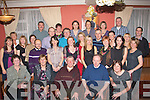 Double celebration.------------------.Des Hayes(seated centre)from Manor,Tralee,got a great send off at the annual St John of God Kerry services Christmas party held in the Imperial,Denny St,Tralee as he has retired after 20yrs with the group..