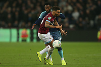 Georges-Kevin Nkoudou of Tottenham Hotspur and Ryan Fredericks of West Ham United during West Ham United vs Tottenham Hotspur, Caraboa Cup Football at The London Stadium on 31st October 2018