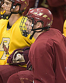 (Peter Harrold) Justin Greene - The Boston College Eagles practiced on Wednesday, April 5, 2006, at the Bradley Center in Milwaukee, Wisconsin, in preparation for their 2006 Frozen Four Semi-Final game against the University of North Dakota.
