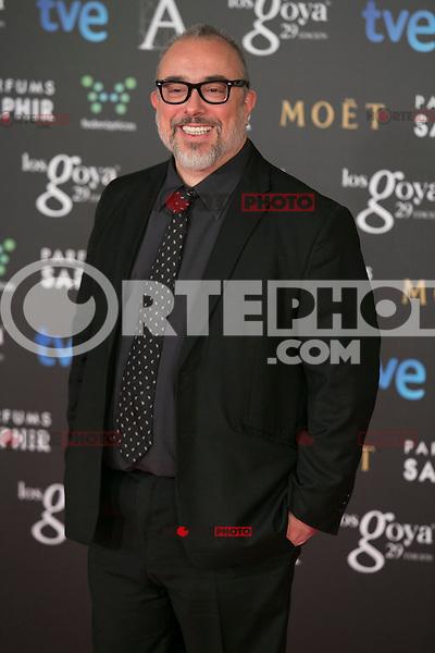 Alex de la Iglesia attend the 2015 Goya Awards at Auditorium Hotel, Madrid,  Spain. February 07, 2015.(ALTERPHOTOS/)Carlos Dafonte) /NORTEphoto.com