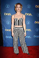 HOLLYWOOD, CA - FEBRUARY 02: Emily Bett Rickards attends the 71st Annual Directors Guild Of America Awards at The Ray Dolby Ballroom at Hollywood & Highland Center on February 02, 2019 in Hollywood, California.<br /> CAP/ROT/TM<br /> ©TM/ROT/Capital Pictures