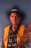 Chinook Tribal Chief. Chief Clifford Snider. Portland Oregon United States.