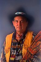 Chinook Tribal Chief. Chief Clifford Snider. Portland Oregon United States.