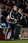 Assistant coach Andy Crosby of Sheffield Utd shouts instructions - English League One - Scunthorpe Utd vs Sheffield Utd - Glandford Park Stadium - Scunthorpe - England - 19th December 2015 - Pic Simon Bellis/Sportimage