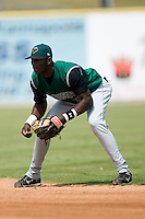Augusta second baseman Juan Jean (35) on defense versus Kannapolis at Fieldcrest Cannon Stadium in Kannapolis, NC, Monday, September 3, 2007.