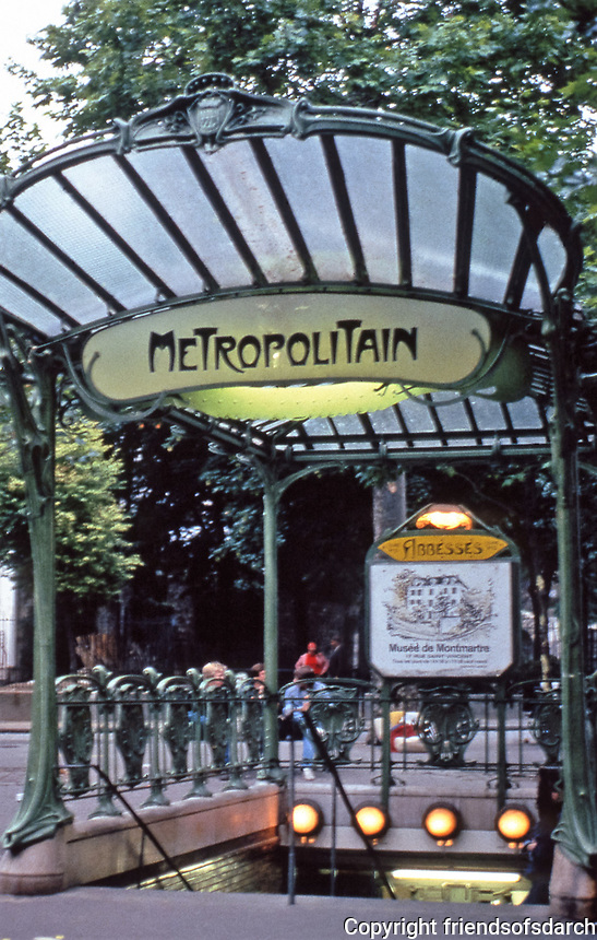 Art Nouveau. The image is an example of the style of architecture featured in this gallery.