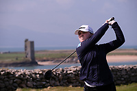 Niamh Ward (UU) during the final of the Irish Students Amateur Open Championship, Tralee Golf Club, Tralee, Co Kerry, Ireland. 12/04/2018.<br /> Picture: Golffile | Fran Caffrey<br /> <br /> <br /> All photo usage must carry mandatory copyright credit (&copy; Golffile | Fran Caffrey)