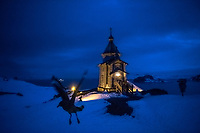 ANTARCTICA - NOVEMBER 27: Russian Orthodox Church of The Holy Trinity on the Bellingshausen base the 27th of November, 2015 near Villa Las Estrellas, in the Fildes Peninsula on King George Island, Antarctica. <br /> <br /> Daniel Berehulak for The New York Times