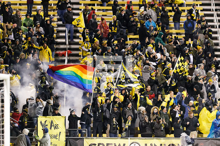 Columbus, OH - Sunday October 28, 2018:  Columbus Crew played  Minnesota United FC played in a Major League Soccer (MLS) game at Mapfre Stadium. Final score Columbus Crew 3, Minnesota United 2