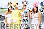 Sinead Sexton (Templeglantine), Siobhan Voyce (Bradford), Siobhan Kennedy (Tournafulla) and Mary Woulfe (Athea) attending the Ladies Day at the Listowel Races on Sunday.